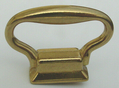 "Solid Brass Carriage Clock Handle Size 1-3/8"" Wide x 1"" High PACKAGE OF 4 PIECES"