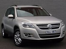 2009 Volkswagen Tiguan 5N MY10 103TDI 4MOTION Silver 6 Speed Sports Automatic Wagon Southbank Melbourne City Preview