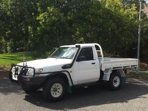 2002 Nissan Patrol GU DX White 5 Speed Manual Cab Chassis Albion Brisbane North East Preview