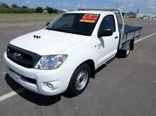 2010 Toyota Hilux KUN16R MY10 SR White 5 Speed Manual Cab Chassis Hyde Park Townsville City Preview