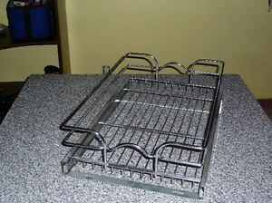 Wire baskets for kitchen cabinets