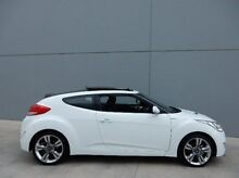2012 Hyundai Veloster FS2 + Coupe White 6 Speed Manual Hatchback Braeside Kingston Area Preview