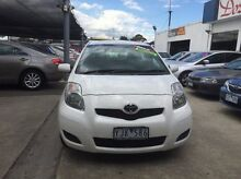 2010 Toyota Yaris NCP90R MY11 YR White 5 Speed Manual Hatchback Maidstone Maribyrnong Area Preview