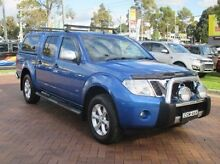 2012 Nissan Navara D40 S5 MY12 ST-X 550 Blue 7 Speed Sports Automatic Utility Baulkham Hills The Hills District Preview