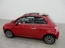 2010 Fiat 500C Series 1 Dualogic Red 5 Speed Sports Automatic Single Clutch Convertible Braeside Kingston Area Preview