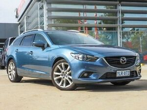2013 Mazda 6 GJ1021 Atenza SKYACTIV-Drive Blue 6 Speed Sports Automatic Wagon Belconnen Belconnen Area Preview
