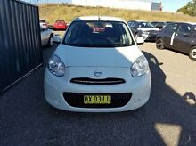 2013 Nissan Micra K13 MY13 ST White 4 Speed Automatic Hatchback Taylors Beach Port Stephens Area Preview