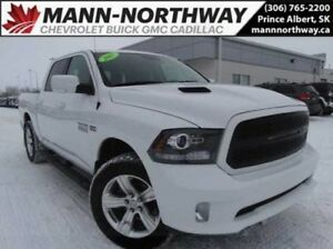 2017 Ram 1500 Sport | Navigation, Leather, Heated Wheel.