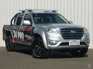 2016 Great Wall Steed NBP (4x4) Silver 6 Speed Manual Utility Hoppers Crossing Wyndham Area Preview