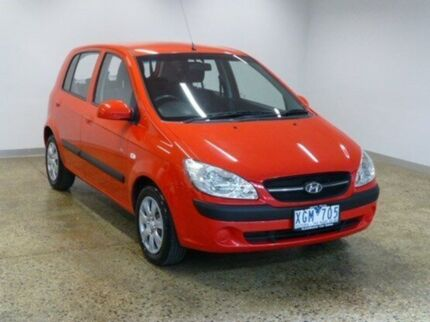 2009 Hyundai Getz TB MY09 SX Hip Hop Red 4 Speed Automatic Hatchback South Geelong Geelong City Preview