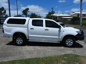 2011 Toyota Hilux KUN26R MY12 SR Double Cab White 4 Speed Automatic Utility Morningside Brisbane South East Preview