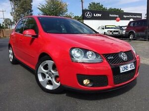 2006 Volkswagen Golf V MY07 GTI DSG Red 6 Speed Sports Automatic Dual Clutch Hatchback Heidelberg Heights Banyule Area Preview