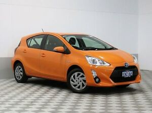 2015 Toyota Prius c NHP10R Hybrid Tango Continuous Variable Hatchback Morley Bayswater Area Preview
