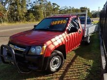 2008 Holden Colorado RC DX (4x2) Red 5 Speed Manual Cab Chassis Taylors Beach Port Stephens Area Preview