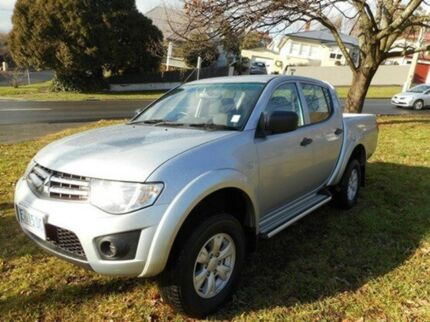 2014 Mitsubishi Triton MN MY15 GLX Double Cab Cool Silver 5 Speed Manual Utility Derwent Park Glenorchy Area Preview