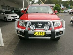 2014 Nissan Navara D40 S6 MY12 ST Red 6 Speed Manual Utility Coffs Harbour Coffs Harbour City Preview