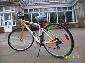 Two road bikes and three mountain bikes available