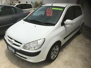 2007 Hyundai Getz TB MY07 S White 5 Speed Manual Hatchback St James Victoria Park Area Preview