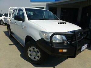 2012 Toyota Hilux KUN26R MY12 SR Double Cab White 5 Speed Manual Cab Chassis Bassendean Bassendean Area Preview
