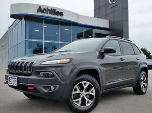 2015 Jeep Cherokee Trailhawk 4x4, Leather, Roof,