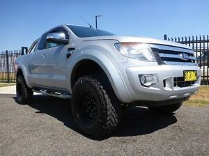 2012 Ford Ranger PX XLT Super Cab Silver 6 Speed Manual Utility Singleton Singleton Area Preview
