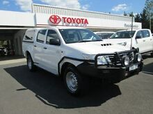 2013 Toyota Hilux KUN26R MY12 SR Double Cab White 4 Speed Automatic Utility Healesville Yarra Ranges Preview