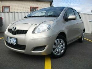 2011 Toyota Yaris NCP90R MY11 YR Gold 5 Speed Manual Hatchback Invermay Launceston Area Preview
