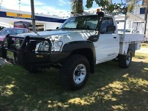 2010 Nissan Patrol GU 6 MY10 DX White 5 Speed Manual Cab Chassis Wodonga Wodonga Area Preview