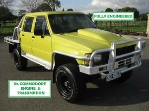 1983 Toyota Hilux Yellow 5 Speed Manual Cab Chassis Enfield Port Adelaide Area Preview