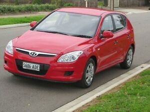 2009 Hyundai i30 FD MY09 SX Red 5 Speed Manual Hatchback Christies Beach Morphett Vale Area Preview