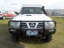 2005 Nissan Patrol GU ST (4x4) White 5 Speed Manual Cab Chassis Pakenham Cardinia Area Preview