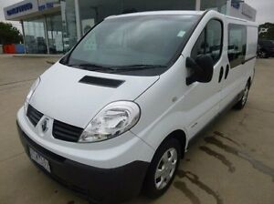 2012 Renault Trafic X83 Phase 3 Low Roof LWB Quickshift White 6 Speed Seq Manual Auto-Clutch Van Coburg North Moreland Area Preview