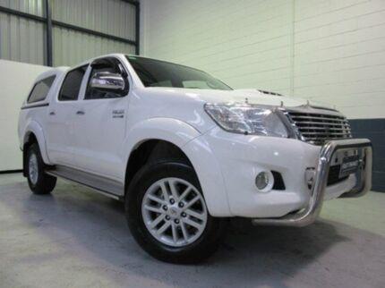 2013 Toyota Hilux KUN26R MY14 SR5 Double Cab Glacier White 5 Speed Automatic Utility Blair Athol Port Adelaide Area Preview