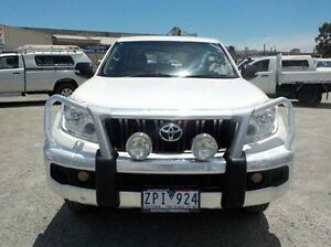 2010 Toyota Landcruiser Prado White Manual Wagon Pakenham Cardinia Area Preview