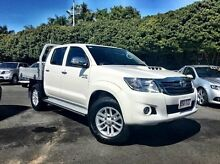 2014 Toyota Hilux KUN26R MY14 SR5 Double Cab White 5 Speed Manual Utility West Mackay Mackay City Preview