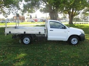 2012 Toyota Hilux TGN16R MY12 Workmate White 5 Speed Manual Cab Chassis East Kempsey Kempsey Area Preview