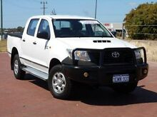 2011 Toyota Hilux KUN26R MY12 Workmate Double Cab White 4 Speed Automatic Utility Spearwood Cockburn Area Preview