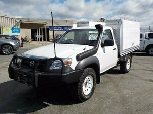 2010 Mazda BT-50 White Manual Cab Chassis Pakenham Cardinia Area Preview