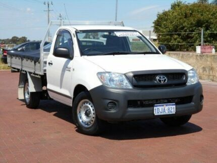 2010 Toyota Hilux TGN16R MY10 Workmate White 5 Speed Manual Cab Chassis Spearwood Cockburn Area Preview