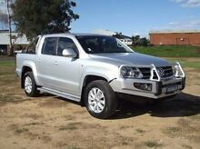 2012 Volkswagen Amarok 2H MY12.5 TDI400 4Mot Highline Silver 6 Speed Manual Utility Dubbo 2830 Dubbo Area Preview