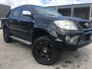 2008 TRD Hilux GGN25R MY09 4000SL Black 5 Speed Automatic Utility Invermay Launceston Area Preview