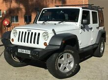 2011 Jeep Wrangler JK MY2010 Unlimited Sport White 5 Speed Automatic Softtop Kings Park Blacktown Area Preview