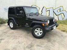 2006 Jeep Wrangler TJ MY2006 Sport Black 6 Speed Manual Softtop Derwent Park Glenorchy Area Preview
