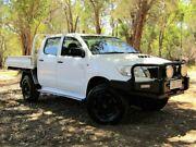 2012 Toyota Hilux KUN26R MY12 SR Double Cab White 5 Speed Manual Cab Chassis Kalamunda Kalamunda Area Preview