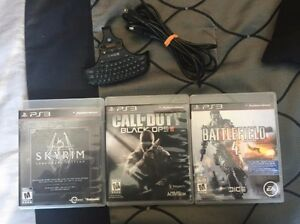 Black ops 1 & 2 , skyrim legendary , BF4 , Accesoire ps3 ++ 35 $