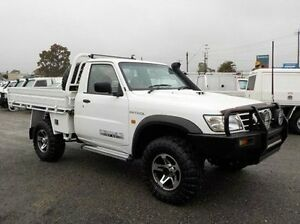 2004 Nissan Patrol GU ST (4x4) White 5 Speed Manual Cab Chassis Pakenham Cardinia Area Preview