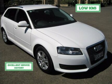 2008 Audi A3 8P MY09 Attraction Sportback S tronic White 7 Speed Sports Automatic Dual Clutch Enfield Port Adelaide Area Preview