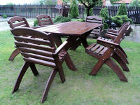 GARDEN FURNITURE SET SOLID WOOD +CUSHIONS