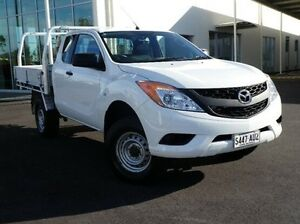 2012 Mazda BT-50 UP0YF1 XT Freestyle 4x2 Hi-Rider White 6 Speed Manual Cab Chassis Green Fields Salisbury Area Preview