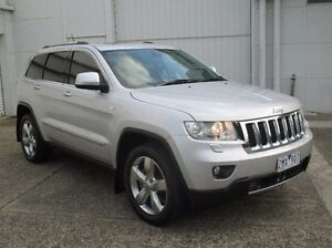 2012 Jeep Grand Cherokee WK MY2013 Overland Silver 5 Speed Sports Automatic Wagon Bundoora Banyule Area Preview